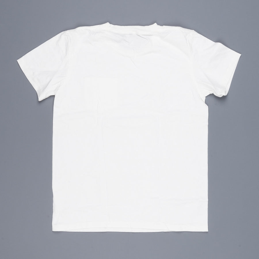 Velva Sheen 2 pack pocket tee 1white 1 oatmeal