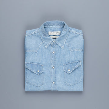 Remi Relief Chambray Western Shirt Used Blue