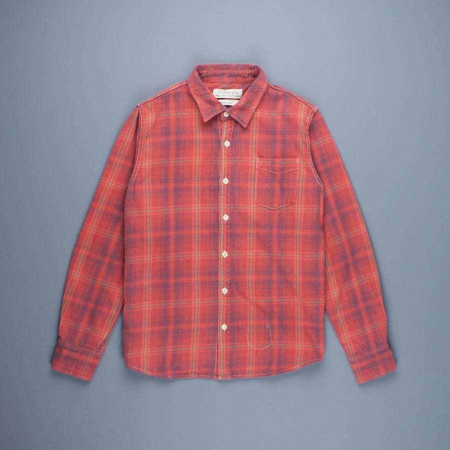 Remi Relief Check Regular Shirt with Vintage SP Finish Red