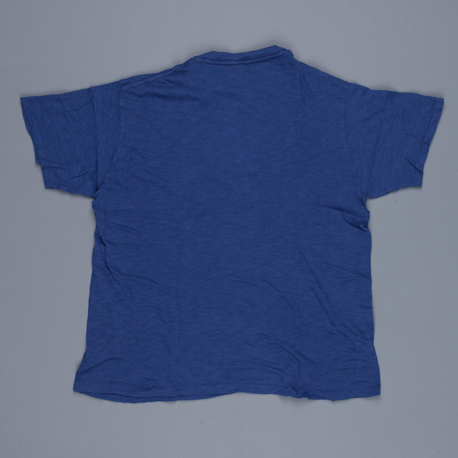 Velva Sheen Roll Tee in Blue