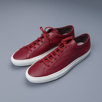 Common Projects Original Achilles perforated Red 1782