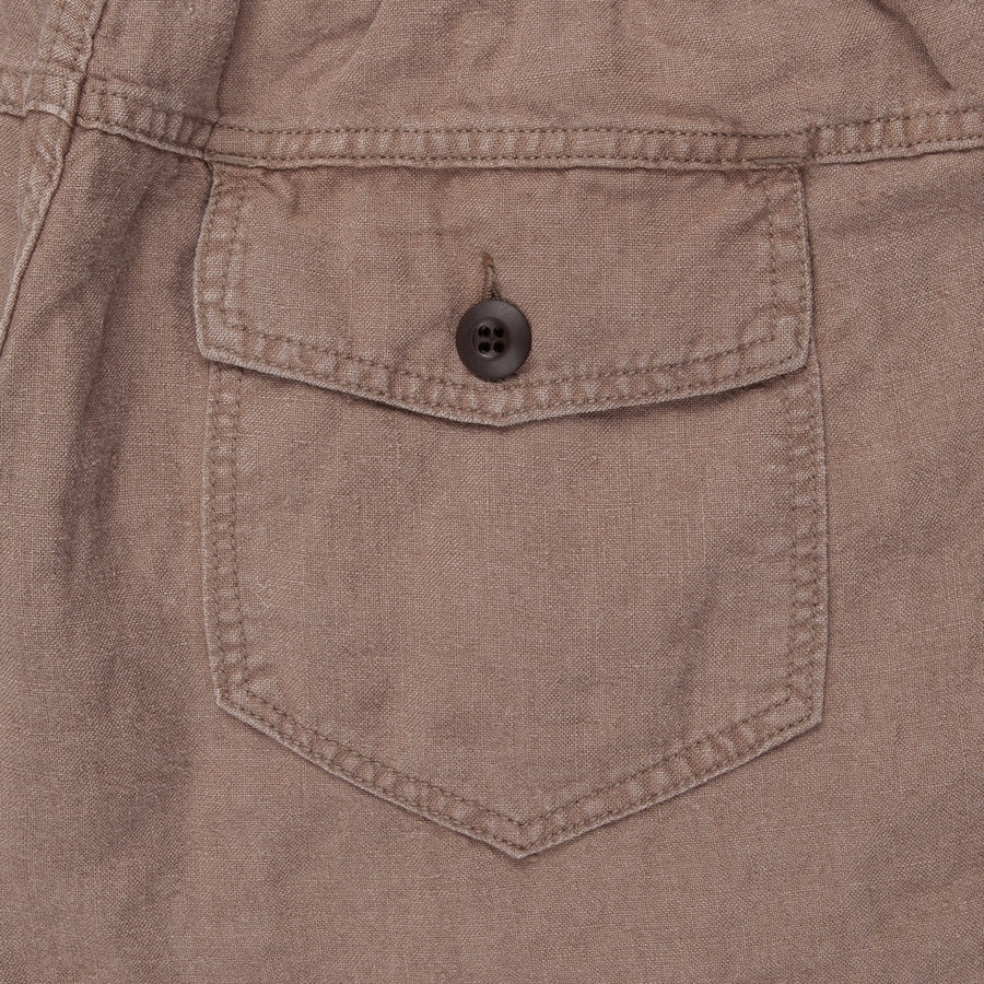 Remi Relief Linen Easy Shorts Brown