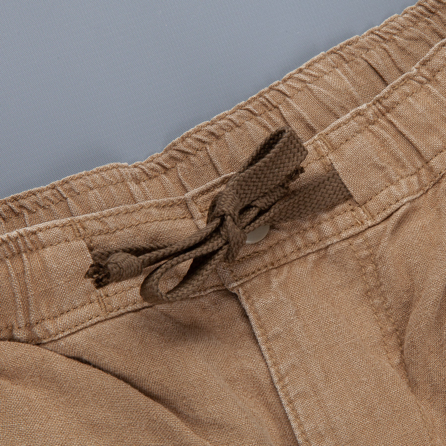 Remi Relief Linen Easy Shorts Olive