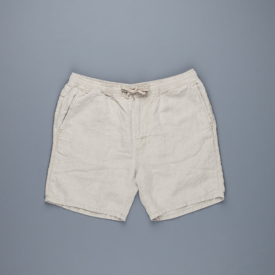 Remi Relief Linen Easy Shorts Off White