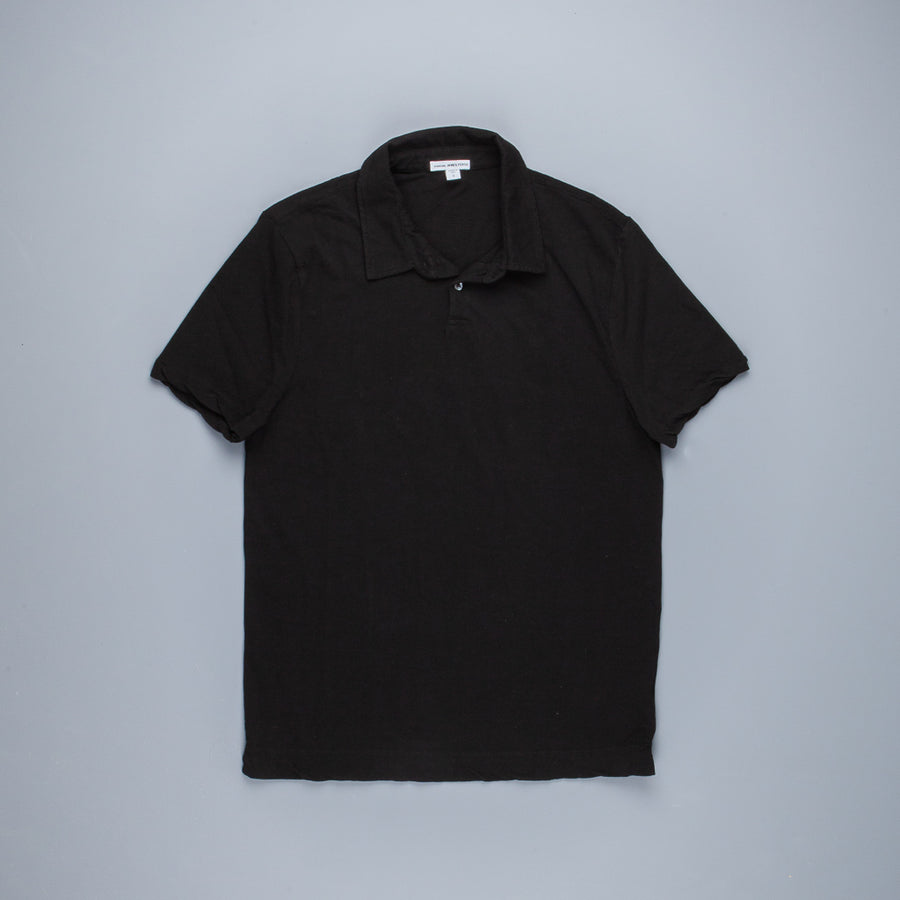 James Perse Dry Touch Jersey Polo Black