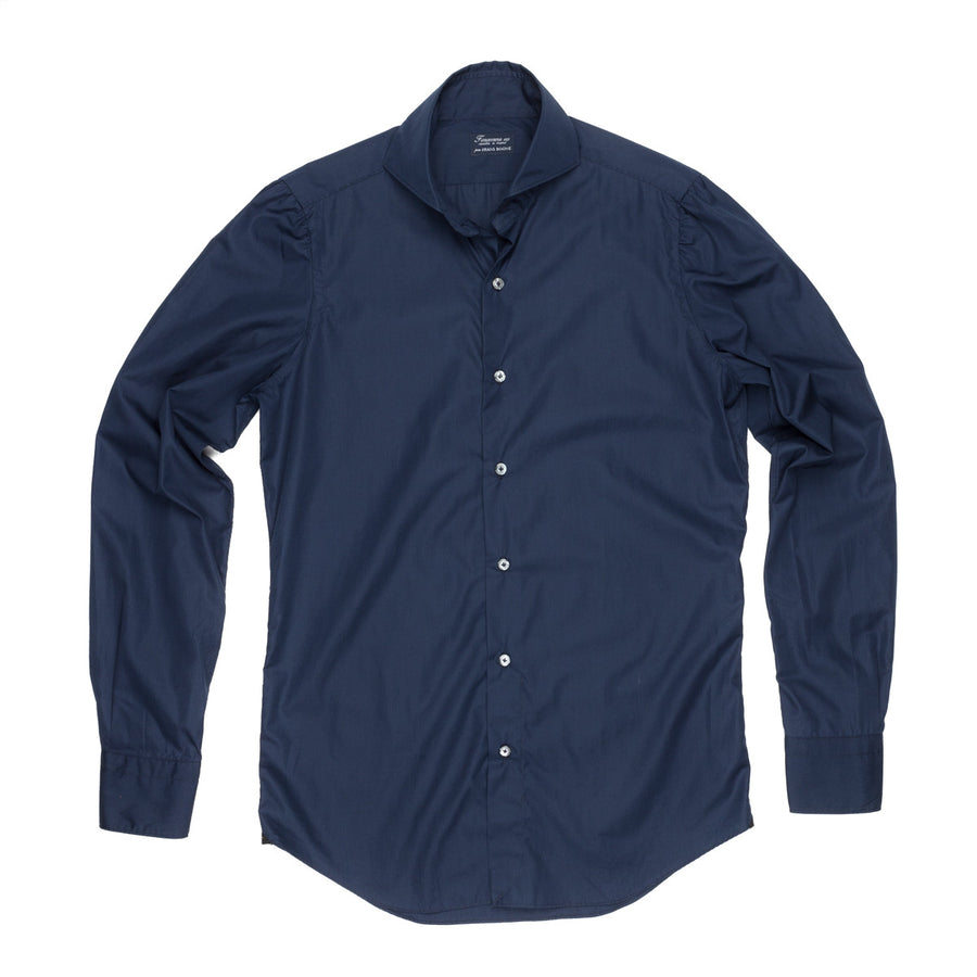 Finamore slimfit soft collar Sergio dress shirt Navy