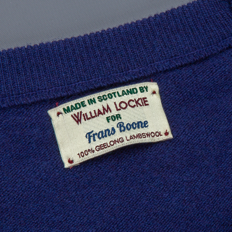 William Lockie x Frans Boone Super Geelong Vintage fit sweater American Navy