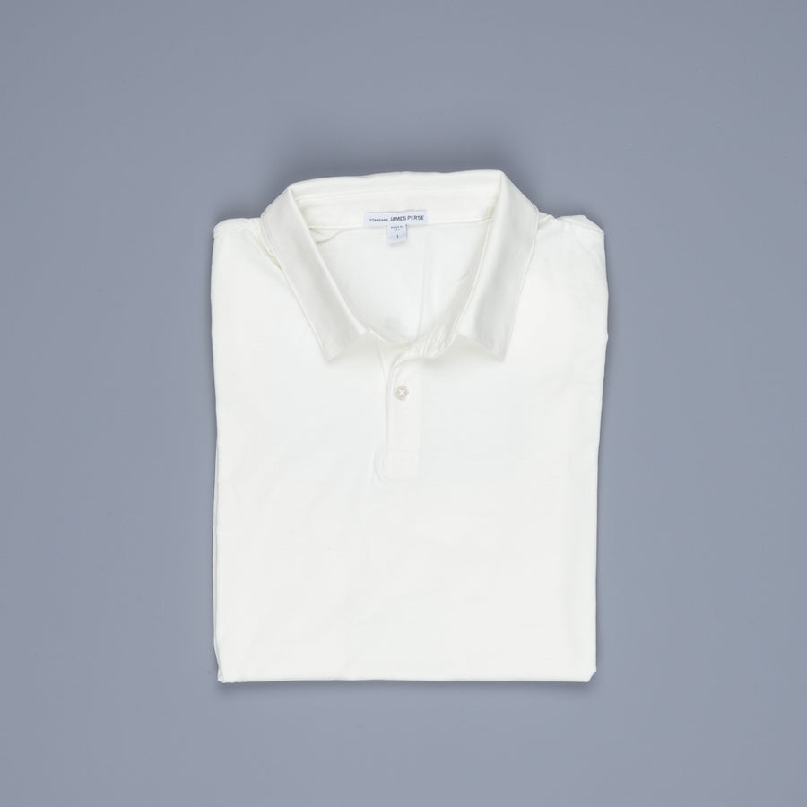James Perse Revised Standard Polo Everest White