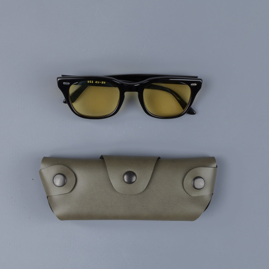 The Real McCoy´s USS Celluloid Frame Sunglasses yellow