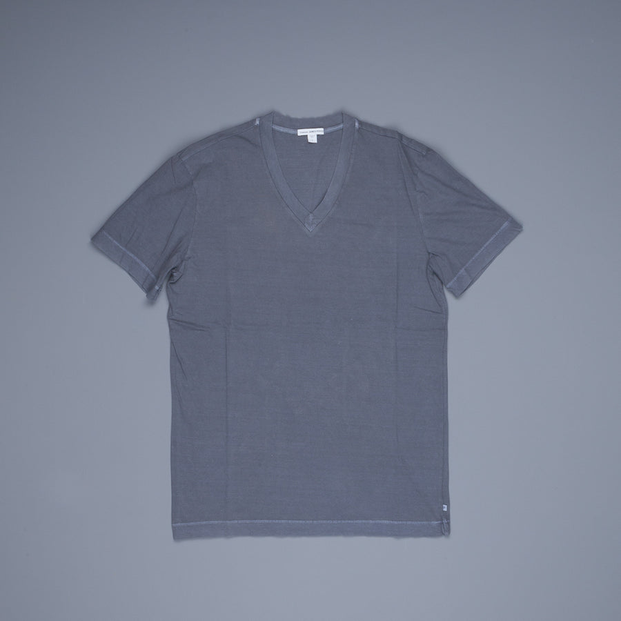James Perse V Neck Tee Gravel Pigment
