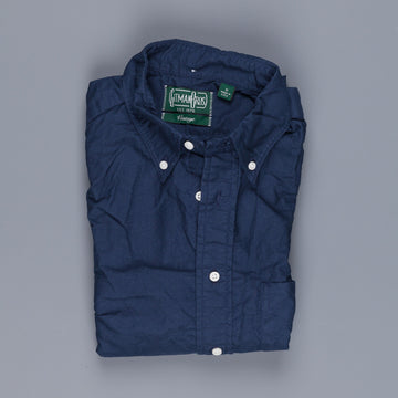 Gitman vintage button down shirt navy overdyed oxford