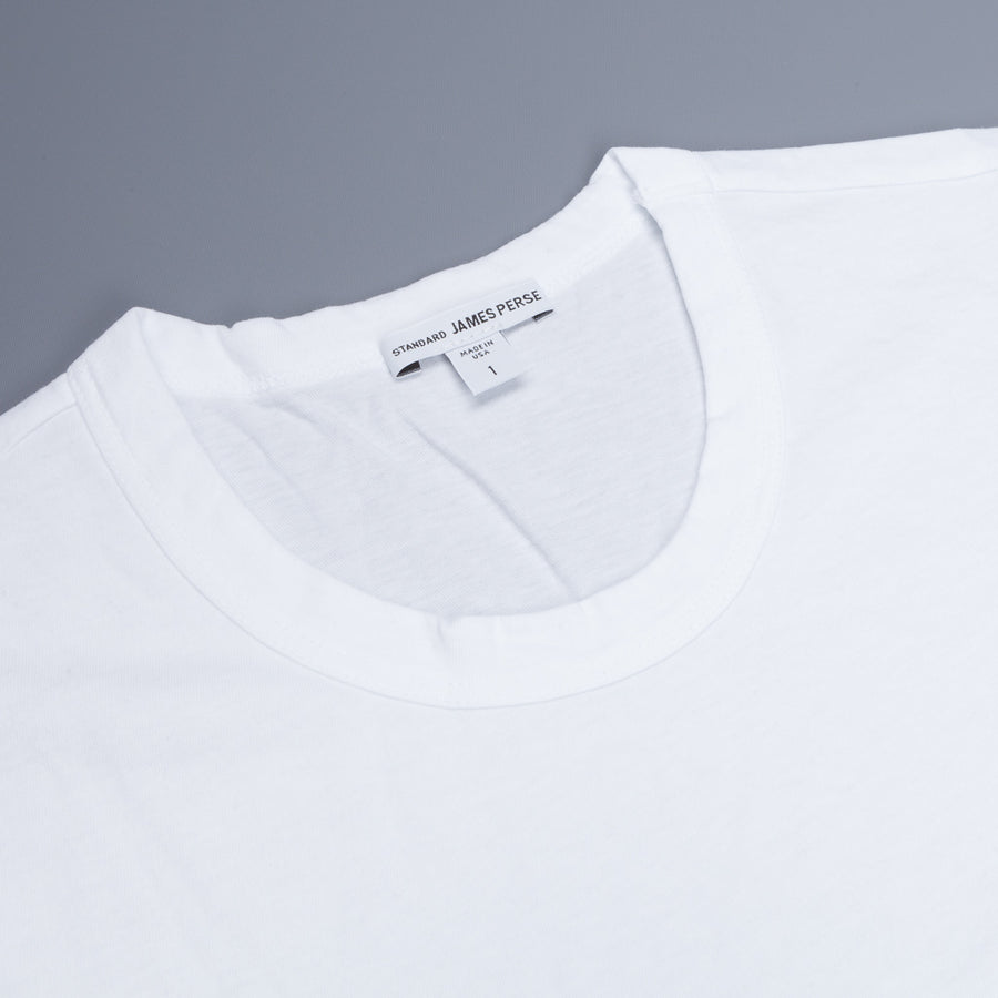 James Perse Crew Neck Pocket Tee White