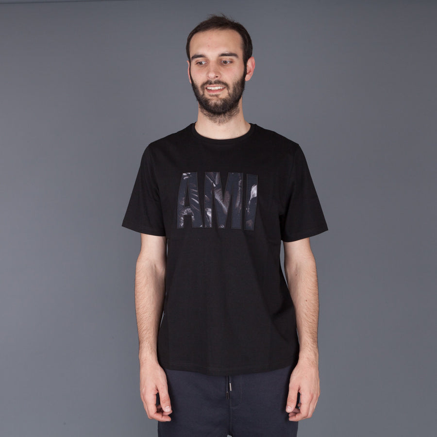 Ami Alexandre Mattiussi, Big Ami crew neck t shirt black grey