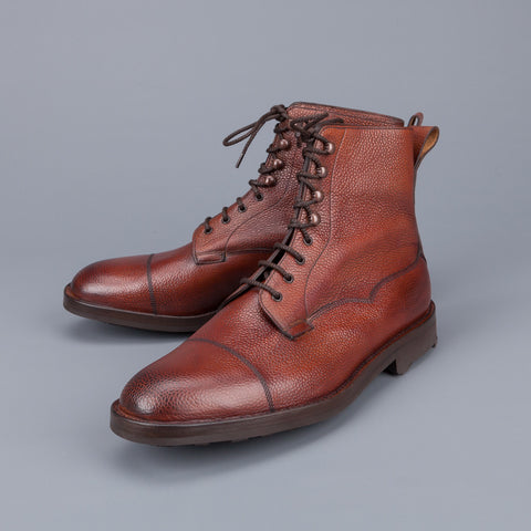 Edward Green Galway in Rosewood country calf grain leather last 64 Veldtschoen construction