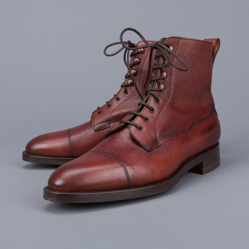 Edward Green Galway in Rosewood Country Calf grain leather last 82 on dainite sole