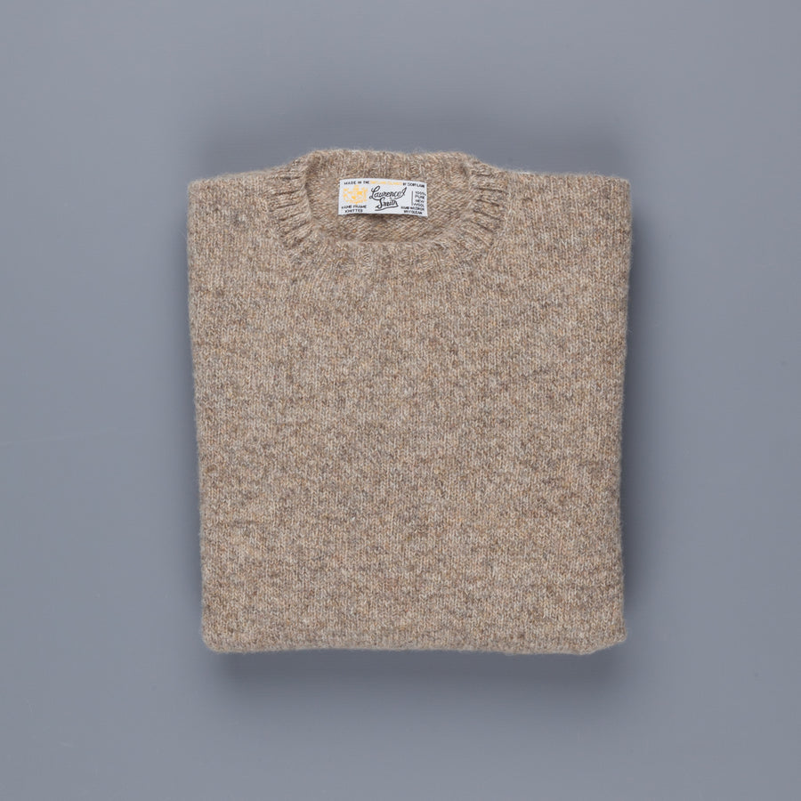 Laurence J. Smith Super soft Seamless Crew Neck Pullover Mushroom