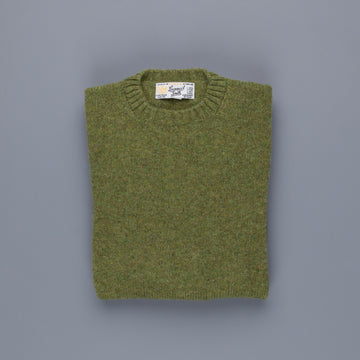 Laurence J. Smith Super soft Seamless Crew Neck Pullover Olive Groove