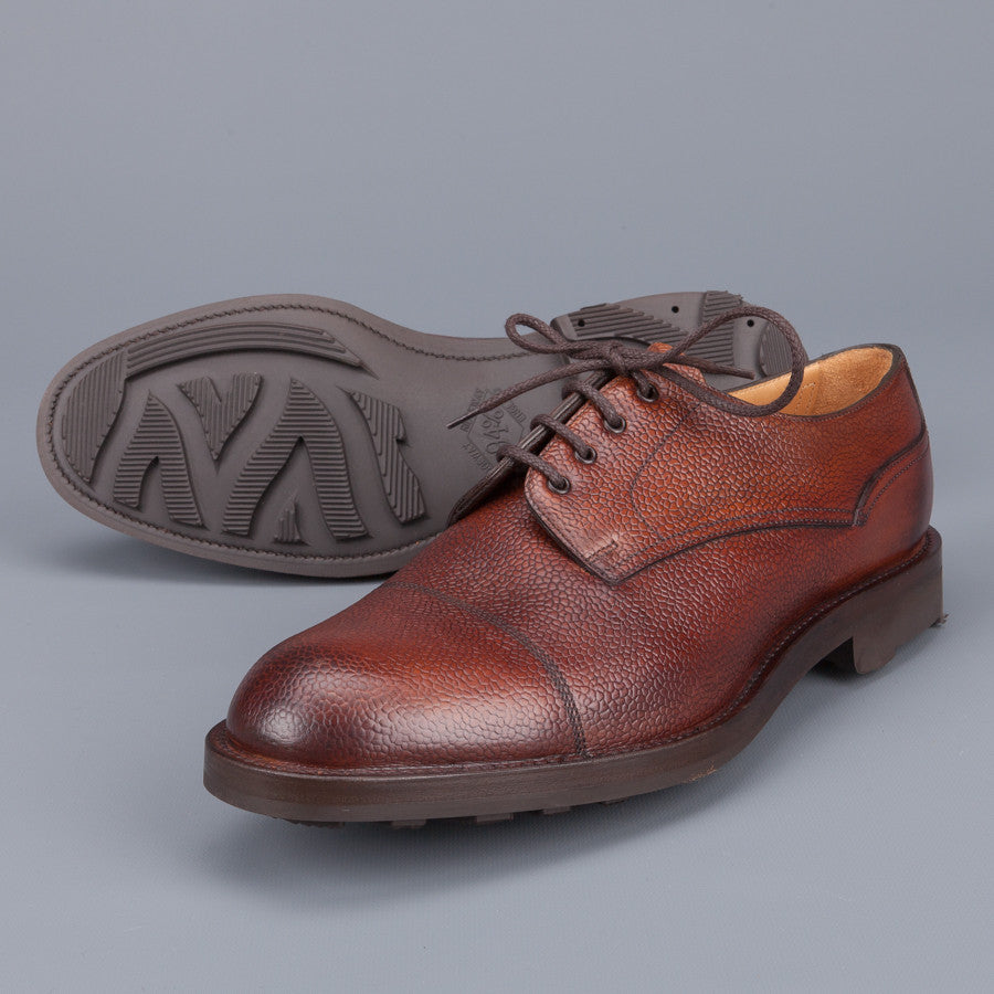 Edward Green Dundee Veldtschoen construction in Rosewood Country calf grain leather last 58