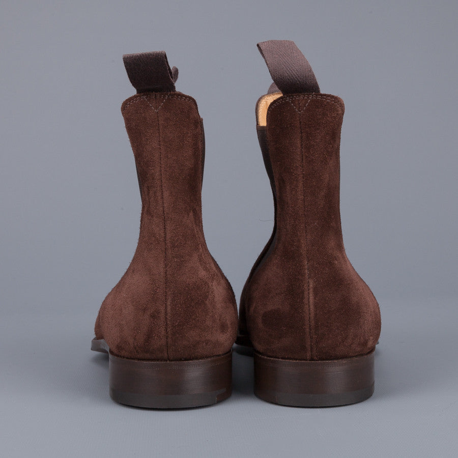 Edward Green New market chelsea boot in Mink suede