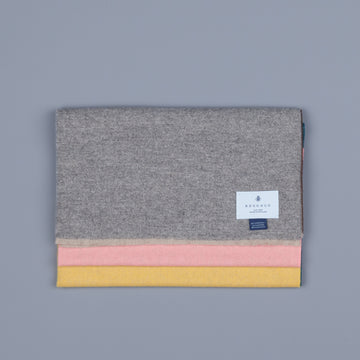 Alex Begg Vigo Lambswool Scarf Buckley Grey & Yellow