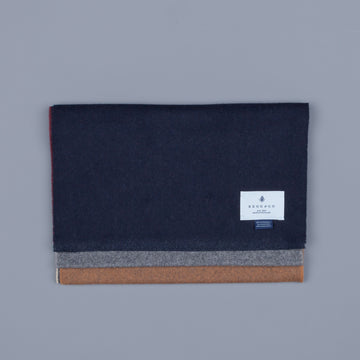 Alex Begg Vigo Lambswool Scarf Buckley Wine & Vicuna