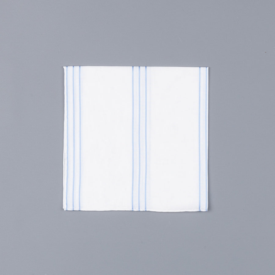 Simonnot godard mouchoir Sirius mini blanc blue