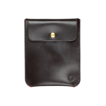 Croots Malton Bridle leather Mini I pad sleeve Dark havana