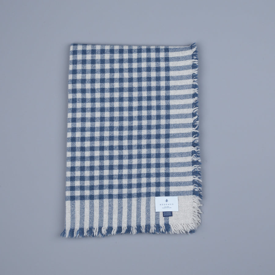Alex Begg Washed Beaufort Lambswool Scarf Herder Denim