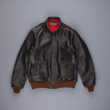The Real McCoy's Type A-2 Seal Brown Red Silk