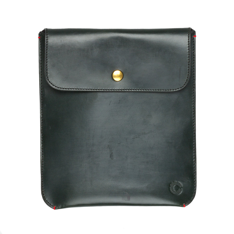 Croots Malton Bridle leather Mini I pad sleeve Racing green
