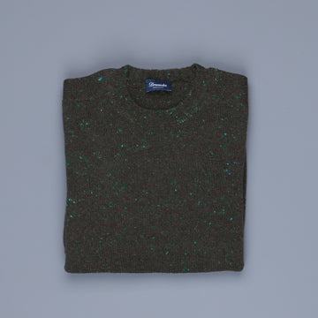 Drumohr Sherwood Crew Neck Donegal Forest Green