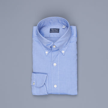 Finamore Gaeta shirt Collo Lucio washed oxford dark blue
