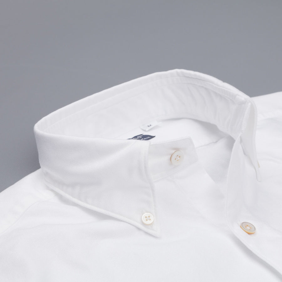 Finamore Gaeta shirt Lucio button down collar white oxford