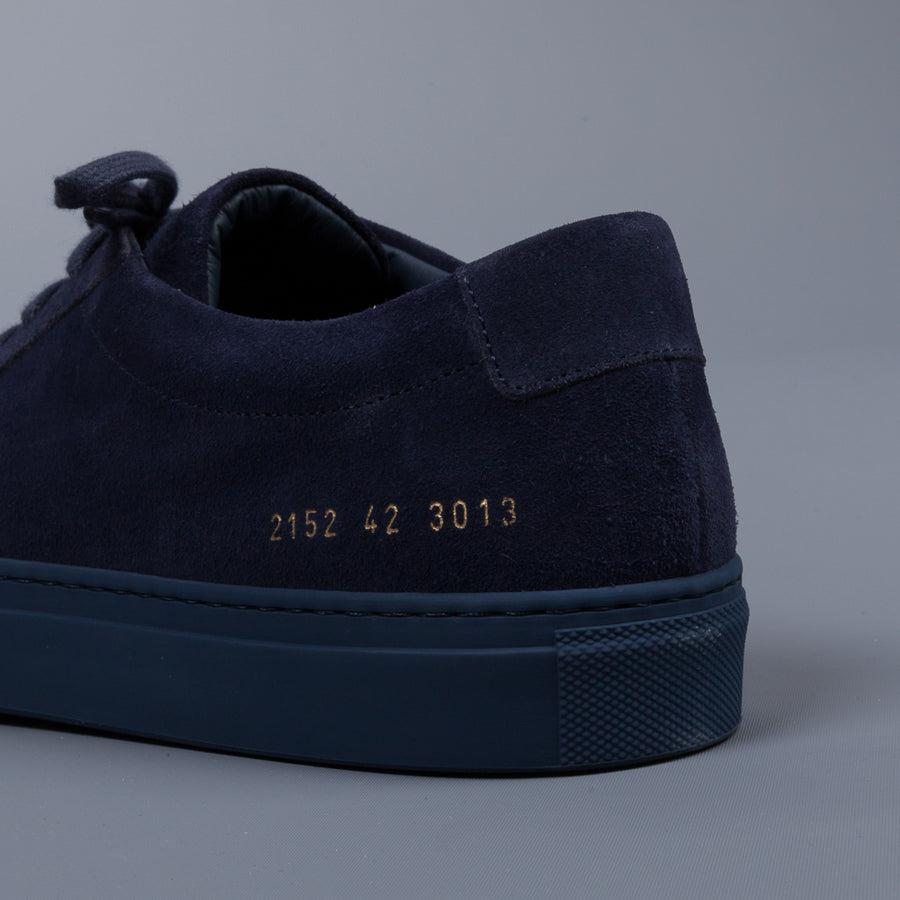 Common Projects 1528 Original Achilles low Suede Indigo Navy