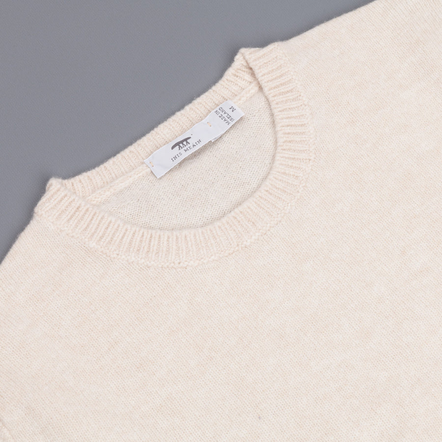 Inis Meáin Classic Jersey Crew Neck Porcellana