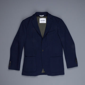 Frans Boone Travel Jacket Blu with Olive lining