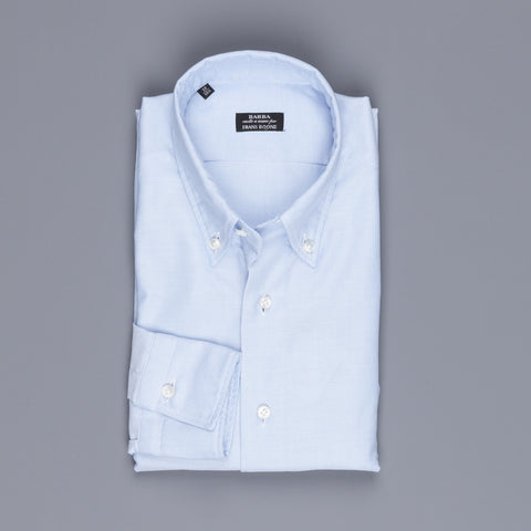 Barba x Frans Boone button down oxford shirt blue