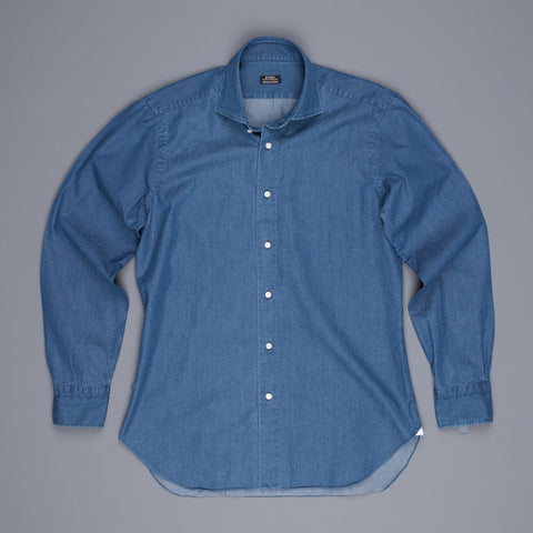 Barba x Frans Boone denim shirt dark