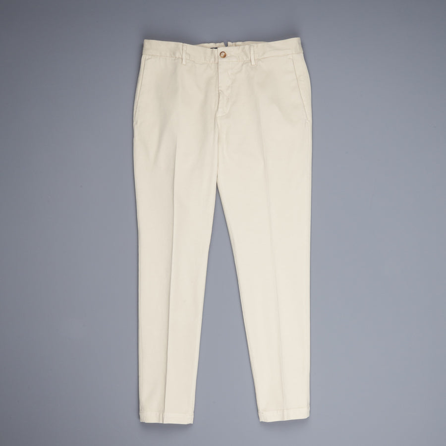 Incotex Carrot Fit Piquettino pants Bianco Naturale