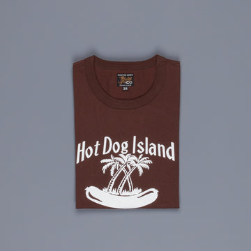 The Real McCoy's Joe McCoy Tee Hotdog Island Brown