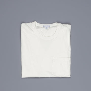 James Perse Crew Neck Pocket Tee Everest White