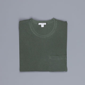 James Perse Crew Neck Pocket Tee Marsh