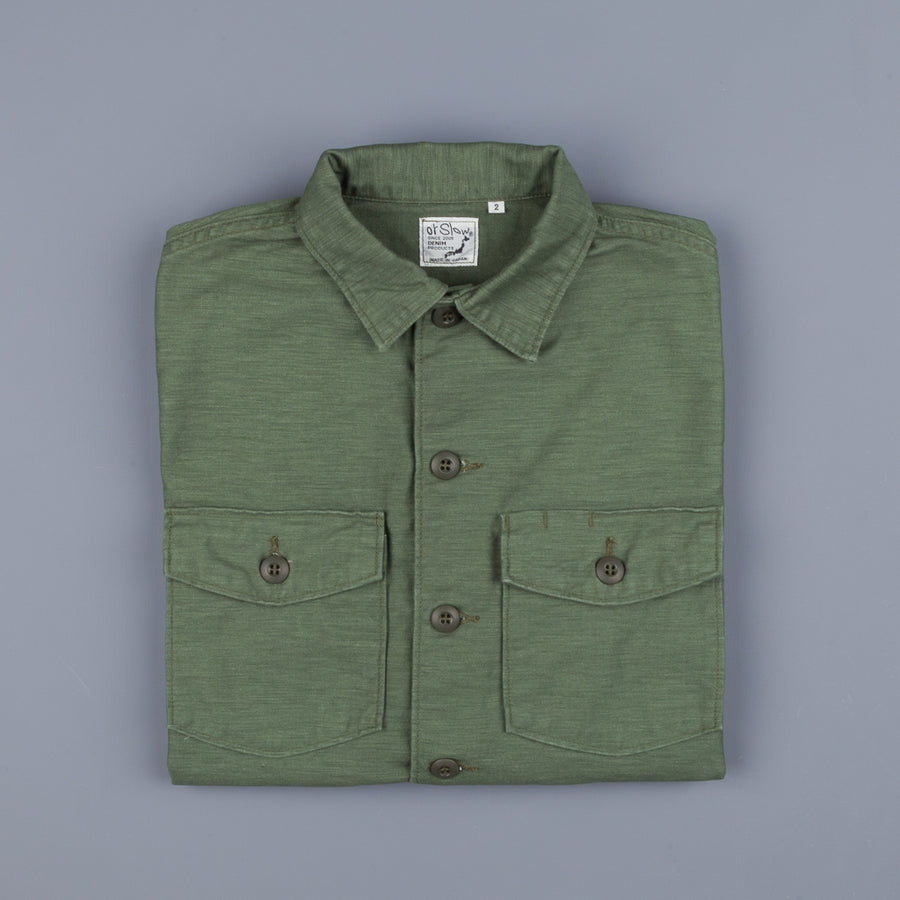 Orslow US army shirt back satin green used
