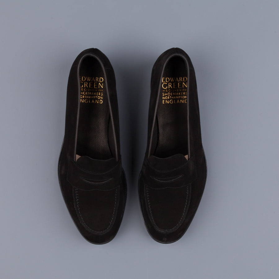 Edward Green Harrow in Black Suede