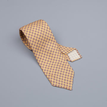 Drake´s untipped tie wool/cashmere/silk blend oriental gold