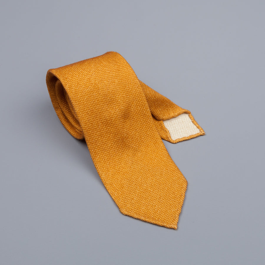 Drake´s untipped tie wool/cashmere/silk blend gold