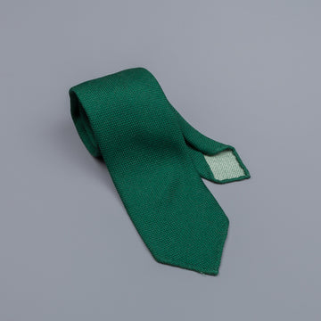 Drake´s untipped tie wool/cashmere/silk blend loden