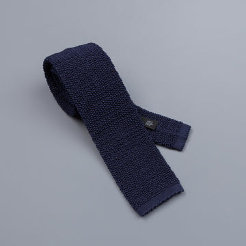 Drake´s silk knitted tie navy