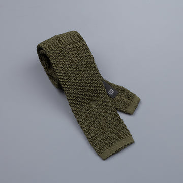 Drake´s silk knitted tie loden