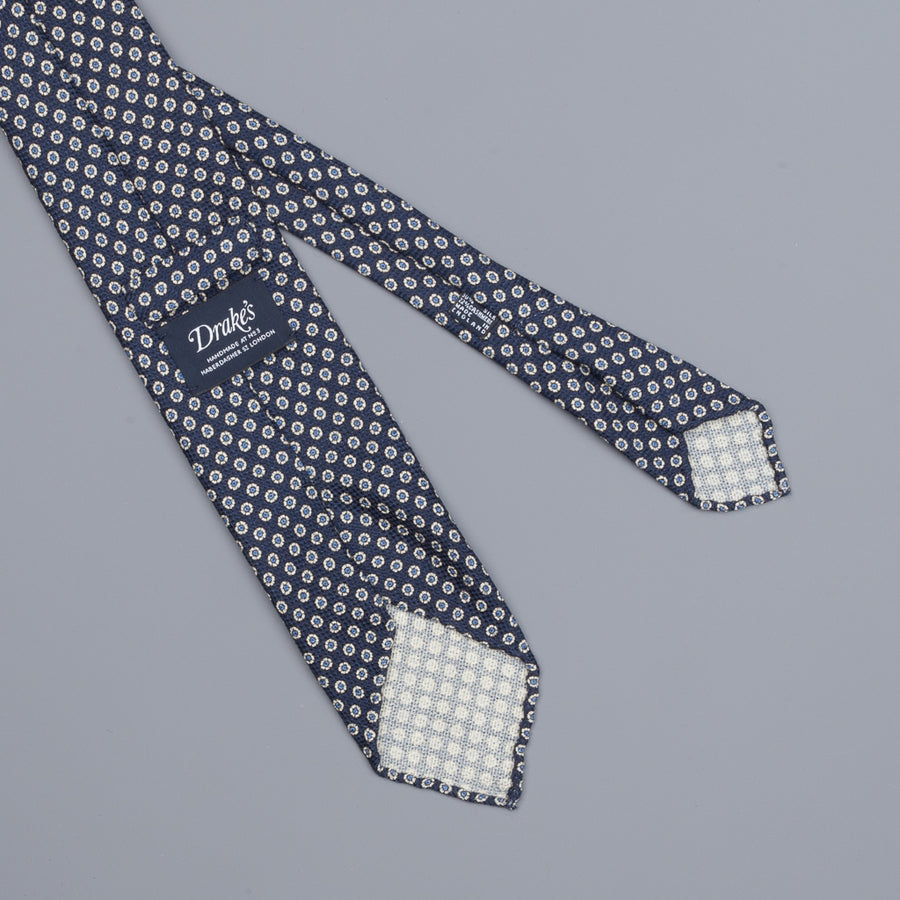 Drake´s untipped tie wool/cashmere/silk blend oriental navy